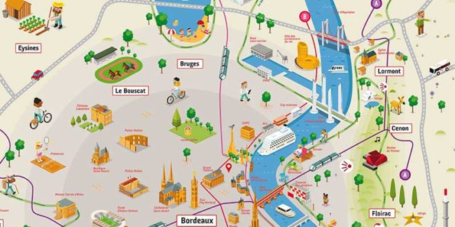 Carte de Bordeaux