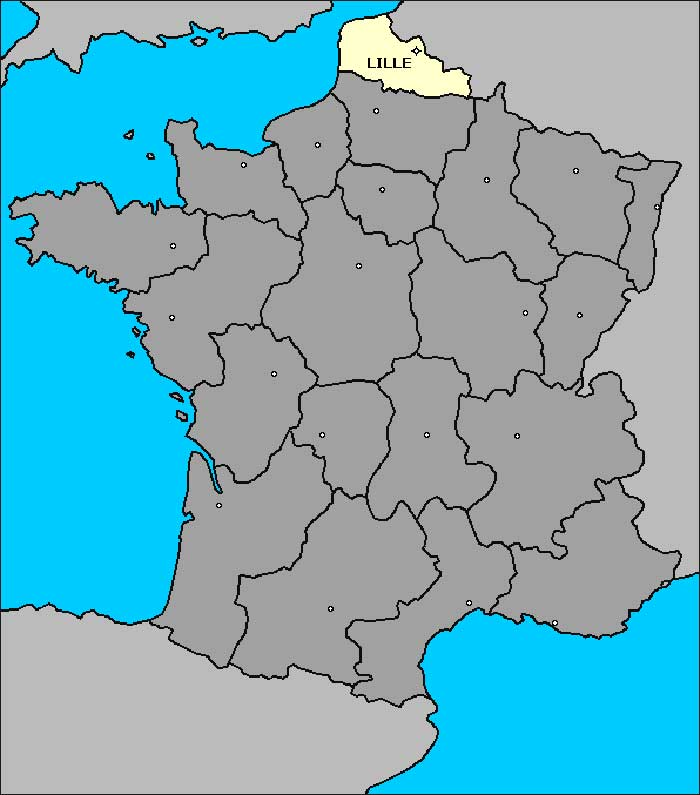 lille-nord-pas-de-calais Carte