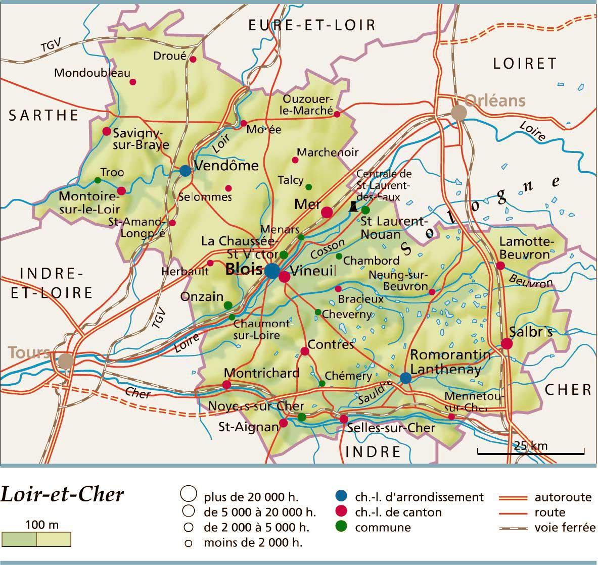 Blois Ville Carte France