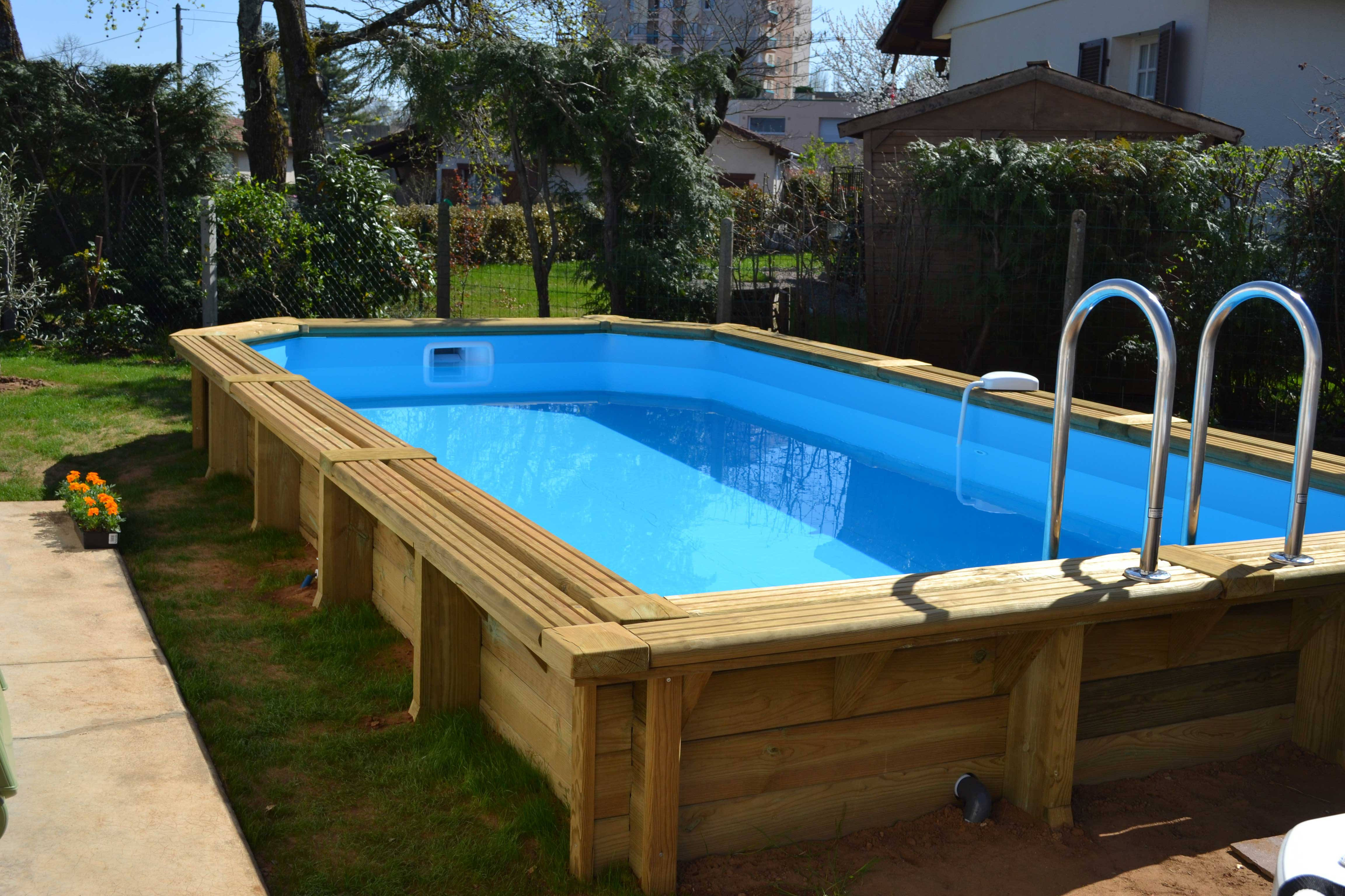 Infos sur piscine semi enterree sans permis leroy merlin for Piscine kit bois semi enterree