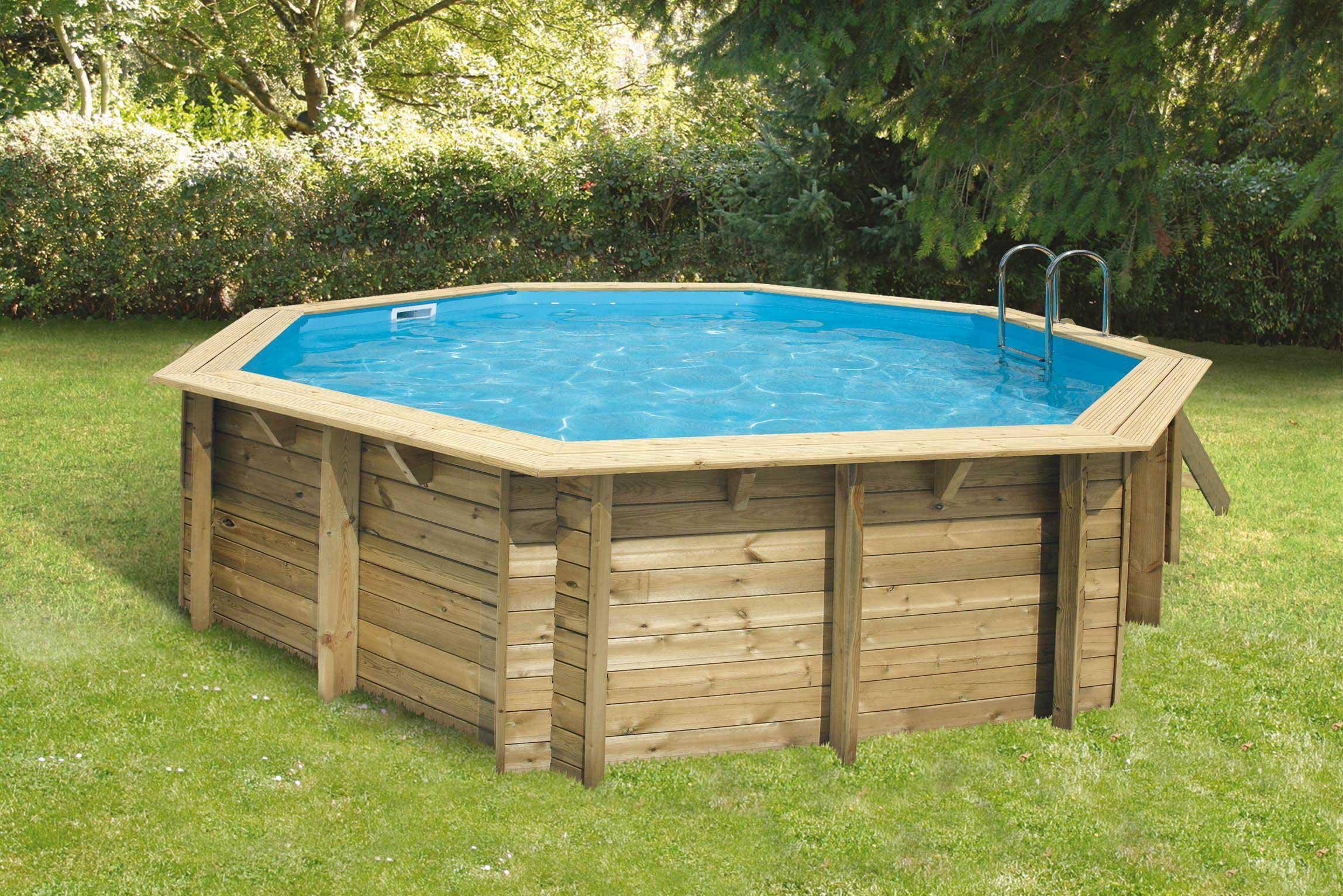 Piscine hors sol en bois arts et voyages for Projecteur piscine hors sol bois