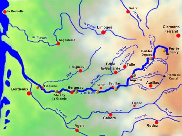 Dordogne Rivière - Carte