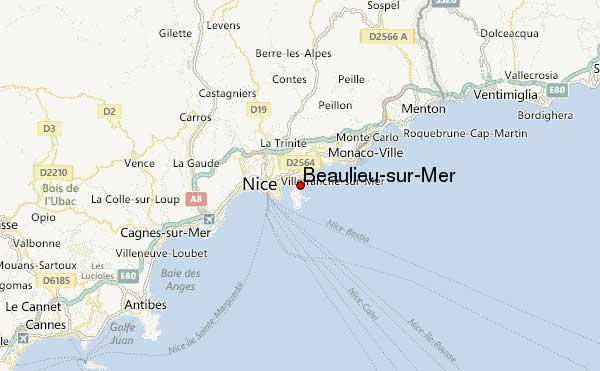 Beaulieu-sur-Mer - Carte
