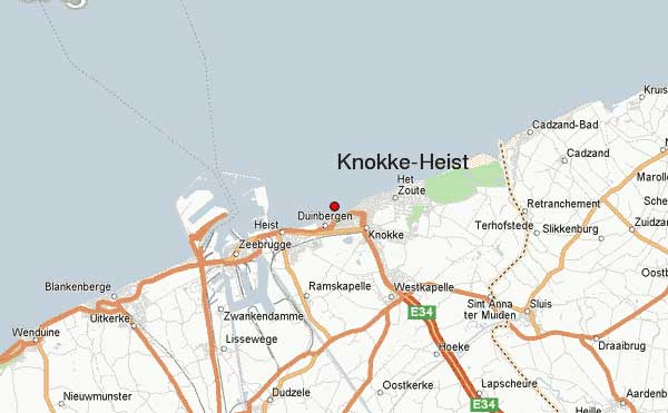 Knokke-Heist - Carte