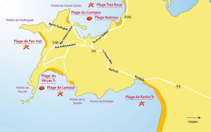 carte-plages-camaret-sur-mer