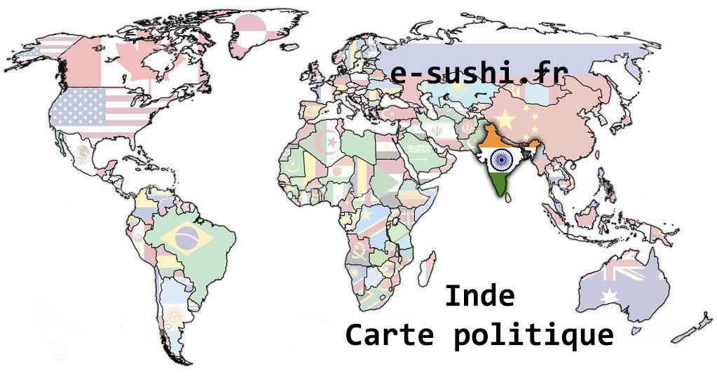Inde - Carte du monde politique
