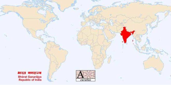 Inde - Carte du monde