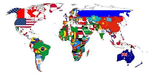 Les pays du monde