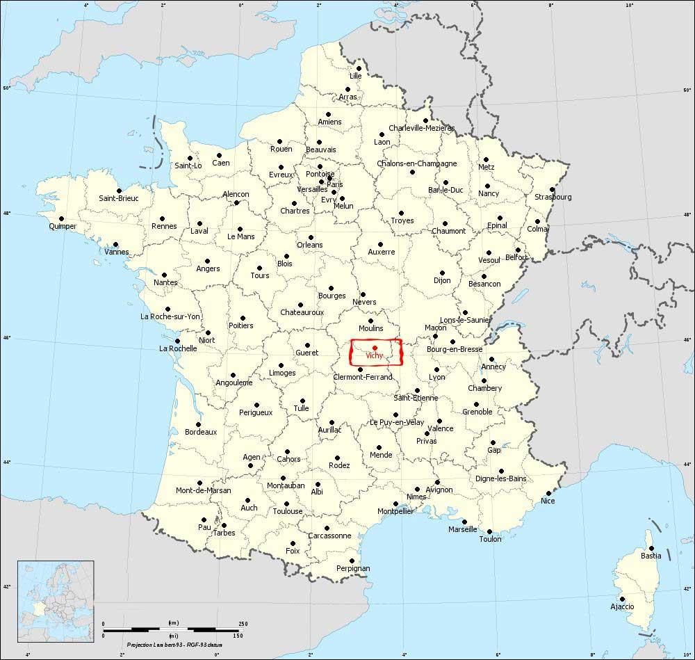 Vichy - Carte