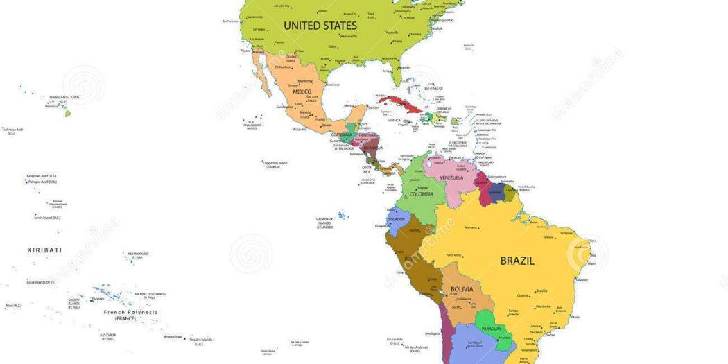 Carte d'Amérique