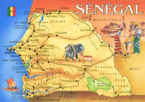 Sénégal - Carte touristique