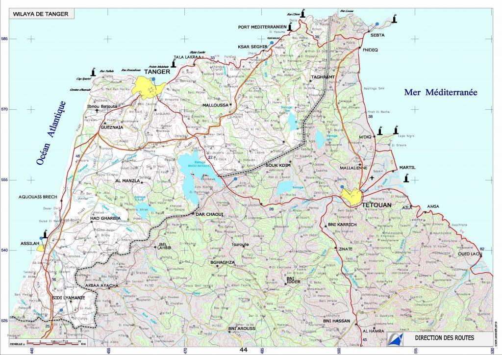 Carte de Tanger
