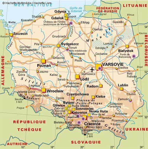 Pologne - Carte