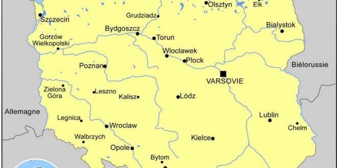 Carte géographique de la Pologne