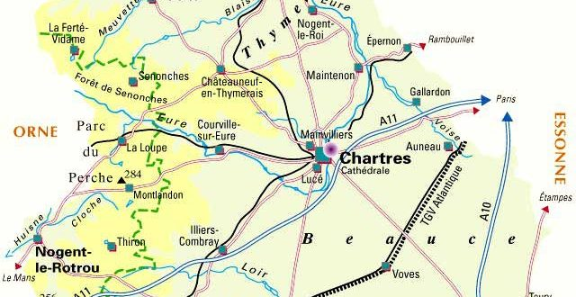 Carte Eure et Loir- Département 28