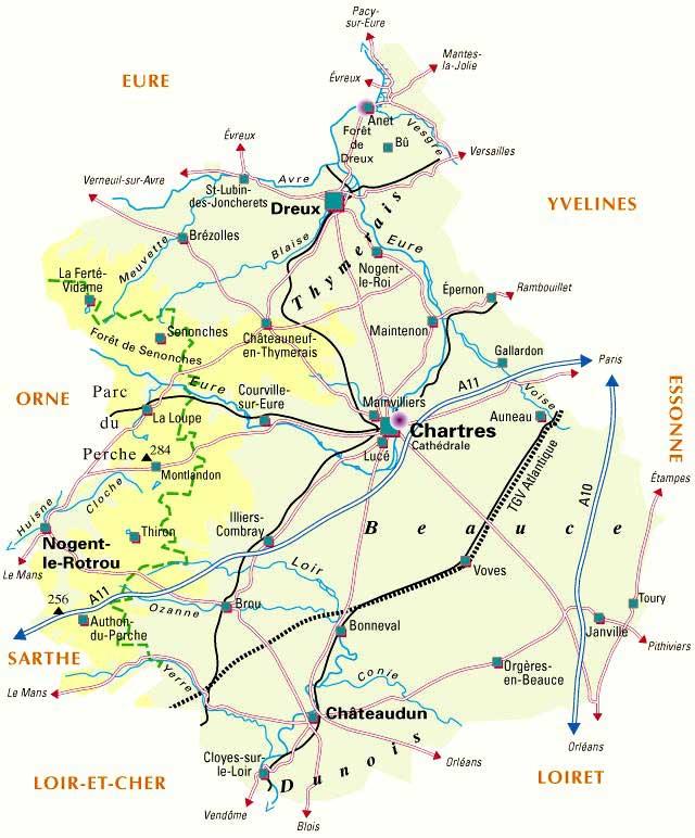 Carte – Département Eure-et-Loir