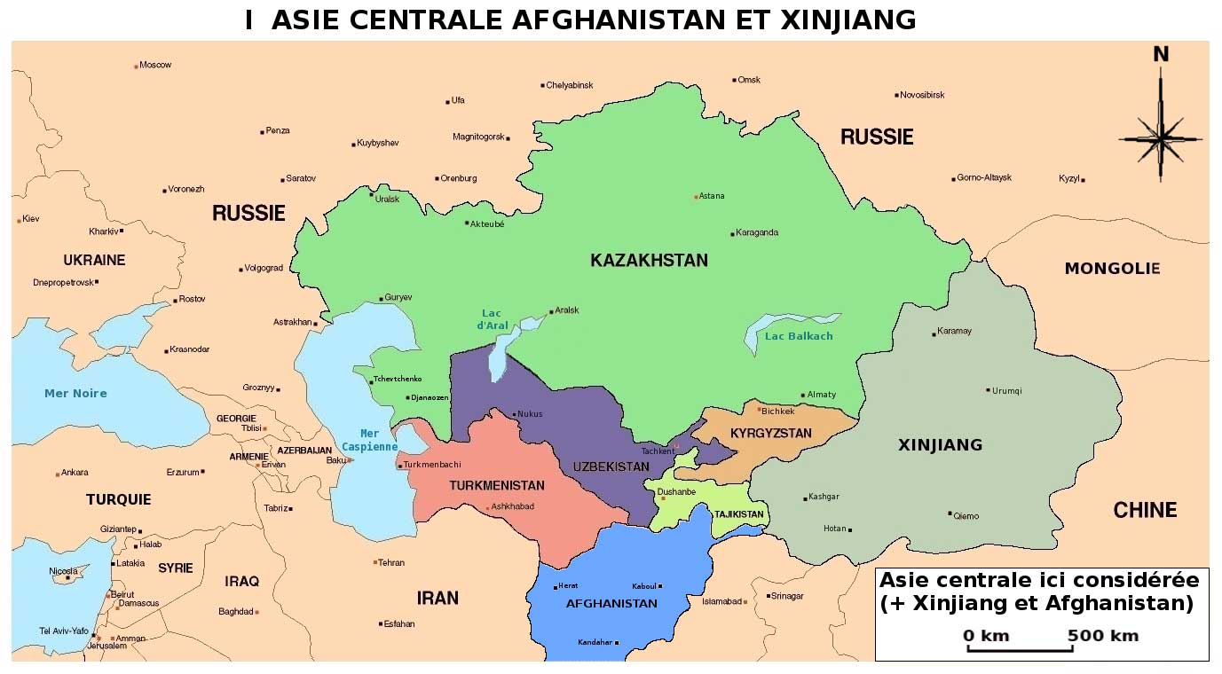 Asie centrale – Carte