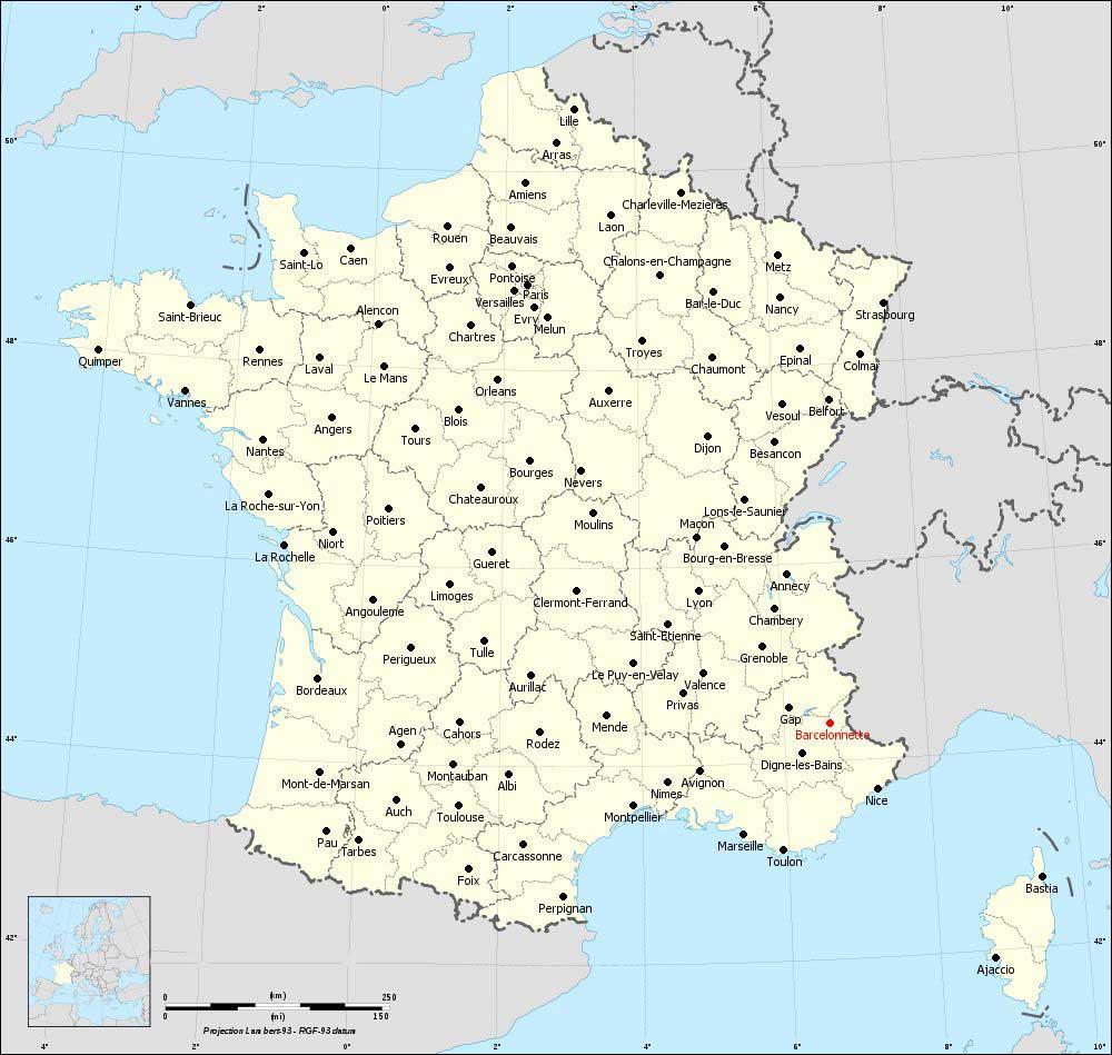 Carte de Barcelonnette