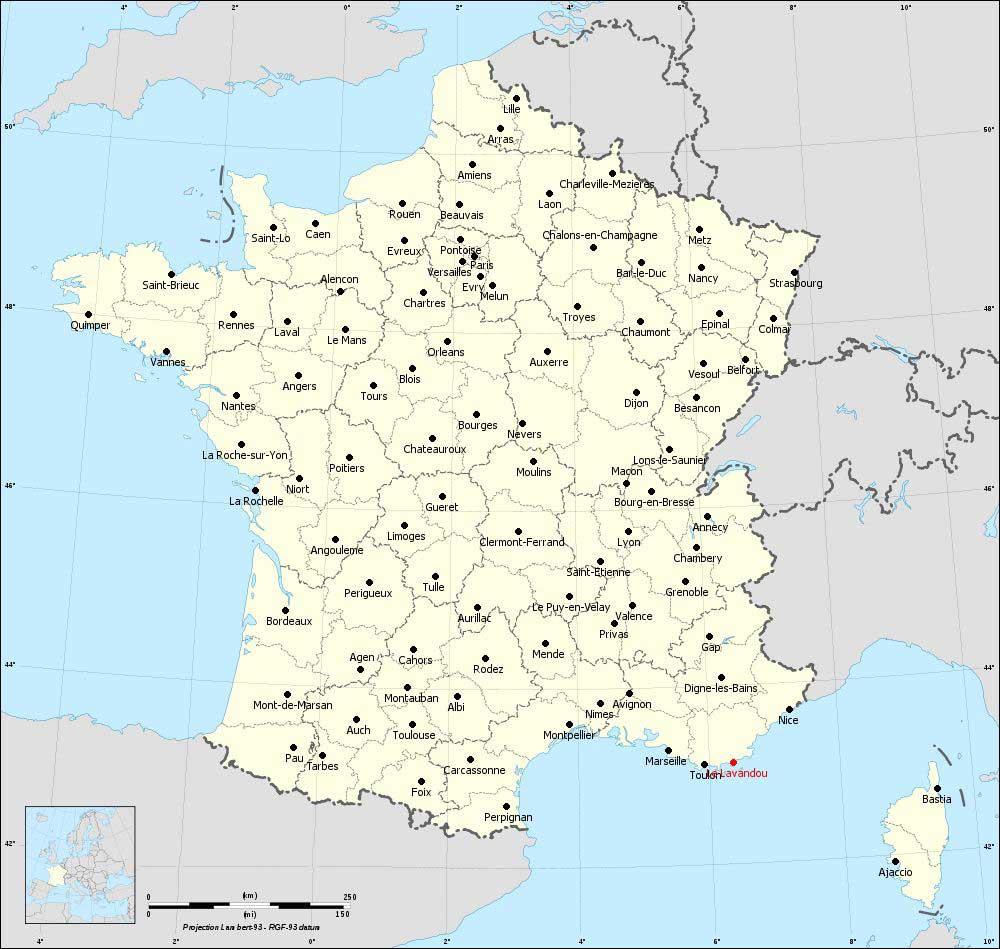 Le Lavandou - Carte