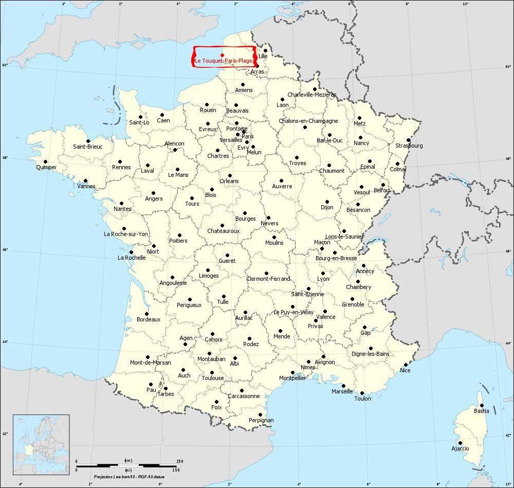 Le Touquet - Carte