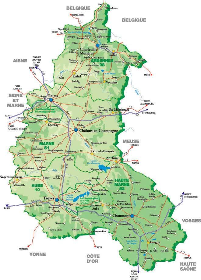 Carte – Département des Ardennes