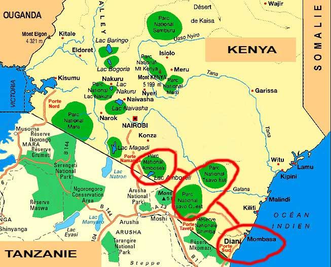 Carte de Mombasa
