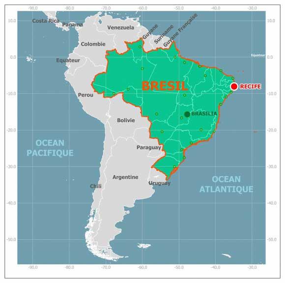 Recife - Carte