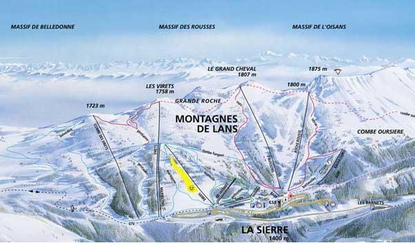 Pistes de Ski - montagne-de-lans