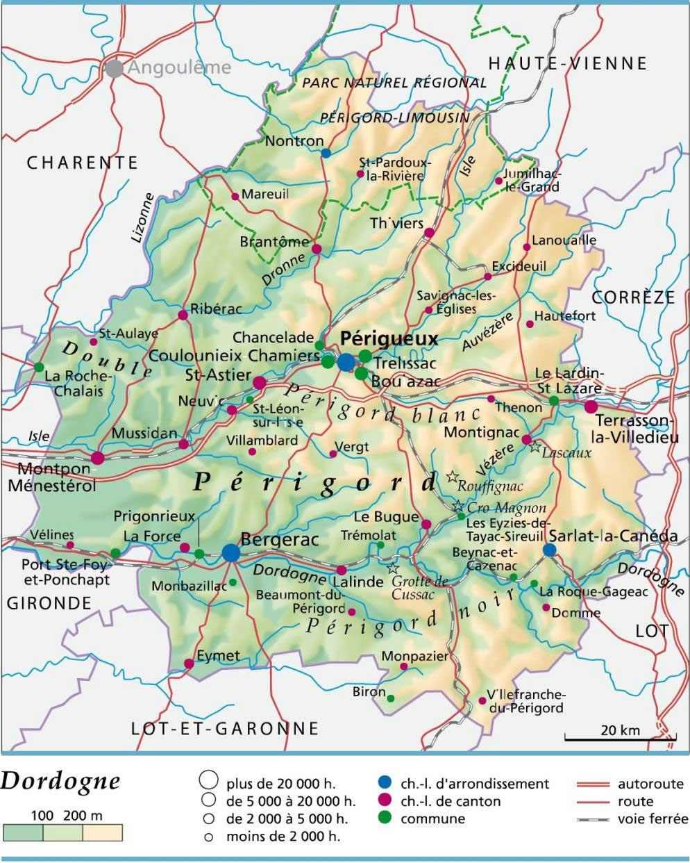 Carte – Département Dordogne