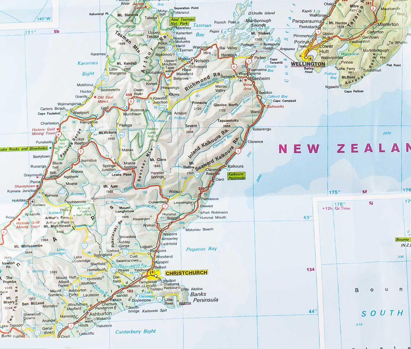 Carte routière – Nouvelle Zélande