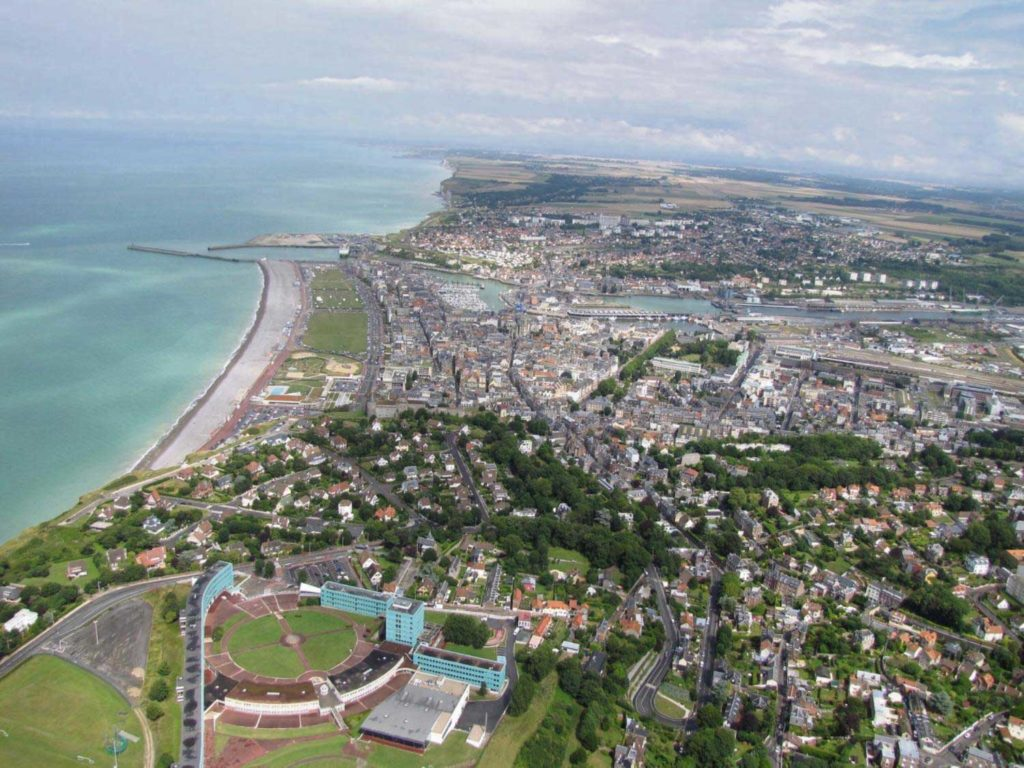 Photo de Dieppe vue du ciel