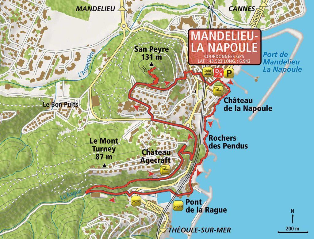 La Napoule carte