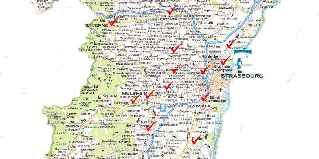 Bas Rhin Carte