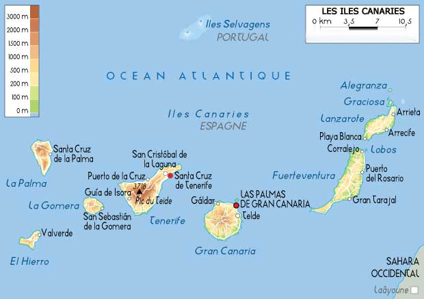 Voyage Canaries - Carte - Map