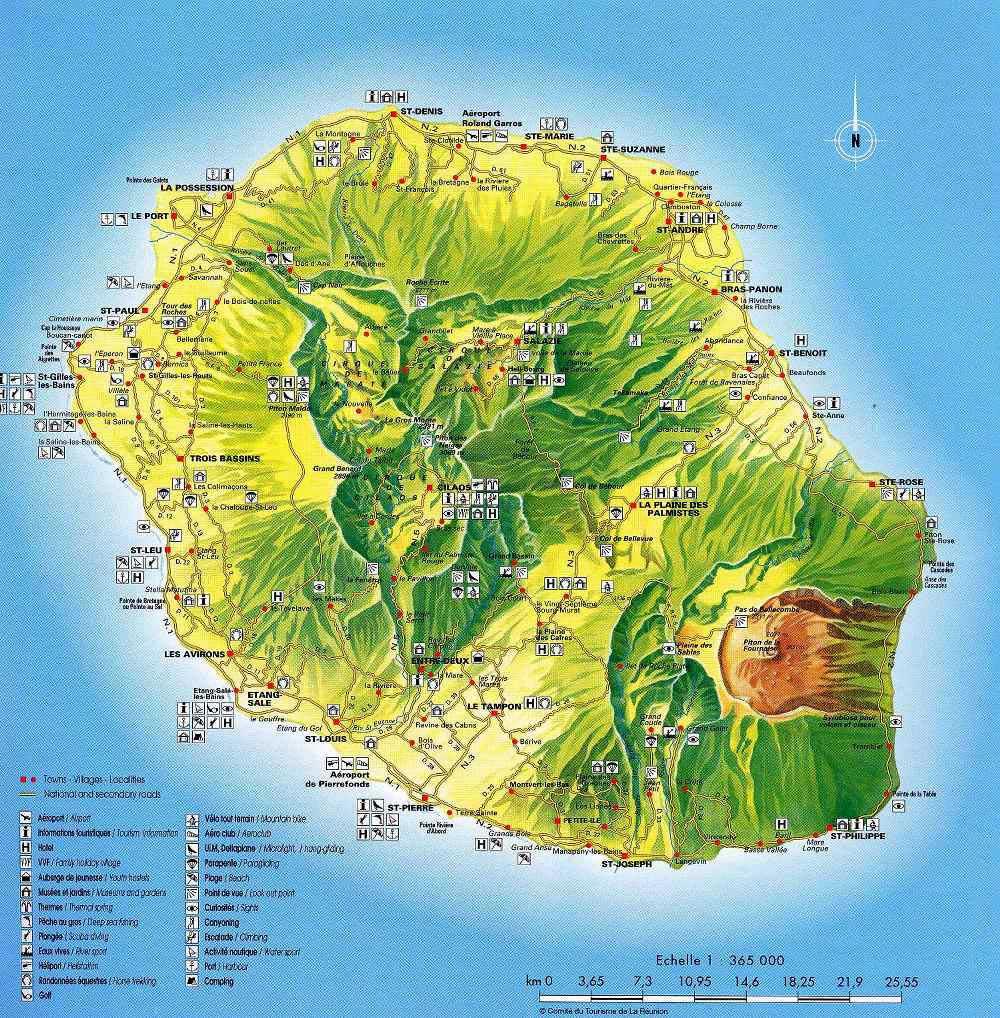 Carte - La Réunion