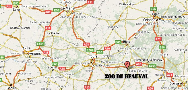 carte- Zoo de Beauval